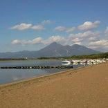 猪苗代湖 志田浜