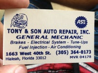Tony & Son Auto Repair, Inc.