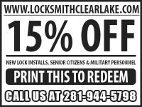 Locksmith in clear lake City