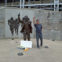 Photo taken at Joe Paterno Statue by Ryne C. on 7/15/2012