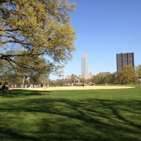 Photo taken at Central Park - North Meadow Fields 1-4 by Michelle C. on 4/13/2012