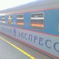 Photo taken at Поезд № 748 «Невский экспресс» Москва — Санкт-Петербург by Алексей Ч. on 6/14/2012