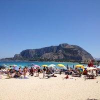 Photo taken at Spiaggia di Mondello by Nico P. on 7/19/2012