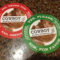 Photo taken at Cowboy Brazilian Steakhouse by Ginny D. on 7/2/2012