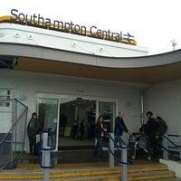 Photo taken at Southampton Central Railway Station (SOU) by Maria Jose S. on 4/28/2012