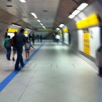 Photo taken at Estação Faria Lima (Metrô) by Duda T. on 3/31/2012