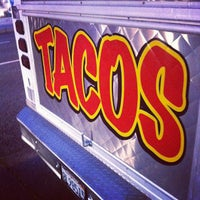 Photo taken at Angelica's Taqueria Taco Truck by Albert A. on 4/4/2012