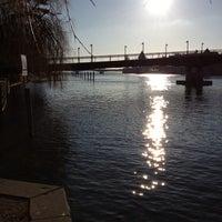 Photo taken at Badeplatz Seerhein by Moi on 2/10/2012