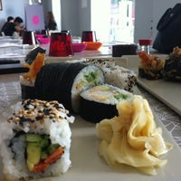 Photo taken at Origami Sushi Bar by Raya B. on 4/14/2012
