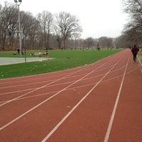 Photo taken at Watsessing Park Running Track by Steve J. on 3/18/2012