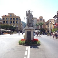 Photo taken at Piazza Tasso by Dave G. on 7/7/2012