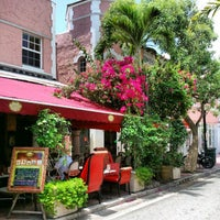 Photo taken at Espanola Way Village by Elio N. on 8/2/2012