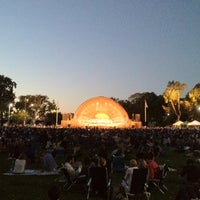 Photo taken at DCR Hatch Memorial Shell by Pervez T. on 8/29/2012