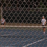 Photo taken at Althea Gibson Tennis Complex by Allison H. on 4/20/2012