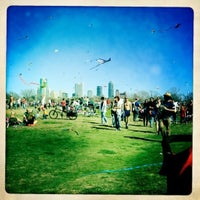 Photo taken at Zilker Park by Caleb M. on 3/5/2012