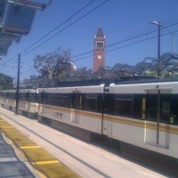 Photo taken at Expo Park/USC Metro Station by Nargizza K. on 6/29/2012