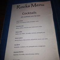 Photo taken at Rocks Bar @ Vomo Island Resort by Chuck D. on 5/20/2012