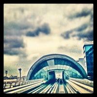 Photo taken at Emirates Metro Station محطة مترو طيران الإمارات by Muneer A. on 2/26/2012