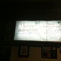 Photo taken at Hero's Submarine Sandwich Shop by Kim H. on 3/10/2012