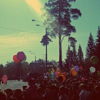 Photo taken at Площадь им. В.И. Ленина by Denis K. on 5/9/2012
