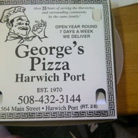 Photo taken at George's Pizza by mary on 7/30/2012