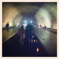 Photo taken at Tenleytown-AU Metro Station by Christopher W. on 8/7/2012