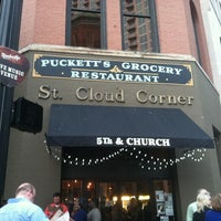 Photo taken at Puckett's Grocery & Restaurant by Roxanne O. on 5/9/2012