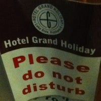 Photo taken at HOTEL GRAND HOLIDAY by Gilbert G. on 3/22/2012