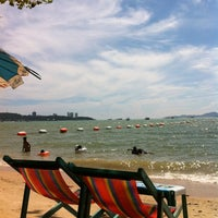 Photo taken at Pattaya Beach by Charn T. on 4/17/2012