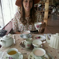 Photo taken at A Corner of England Tea Room by Zoe O. on 3/9/2012