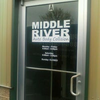 Photo taken at middle river auto body by Theodore J. on 3/30/2012