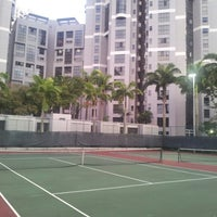 Photo taken at Tennis court @the bayshore by Johnny Q. on 7/12/2012