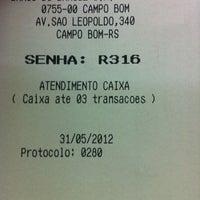 Photo taken at Banco Do Brasil by Jonathan M. on 5/31/2012