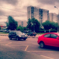 Photo taken at Остановка маршрутки 87м by Katerine S. on 6/8/2012