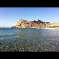 Photo taken at Kolymbia Beach by Imma T. on 8/13/2012