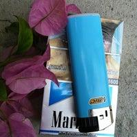 Photo taken at Smoking Area at Ploenchit Center by Narumon R. on 5/16/2012