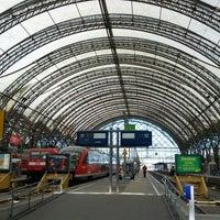 Photo taken at Dresden Hauptbahnhof by John R. on 5/19/2012