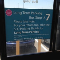 Photo taken at SFO Long Term Parking by Chelle G. on 5/7/2012