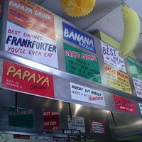 Photo taken at Gray's Papaya by Tiffany P. on 6/21/2012