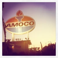 Photo taken at World's Largest Amoco Sign by Nick F. on 5/11/2012