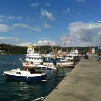 Photo taken at Sarıyer Sahili by Erdem K. on 8/1/2012