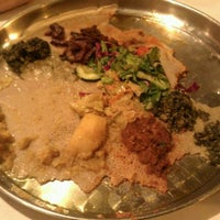 Photo taken at Demera Ethiopian Restaurant by Jenny A. on 9/21/2011