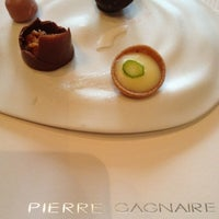 Photo taken at Pierre Gagnaire by Kiah J. on 4/5/2012