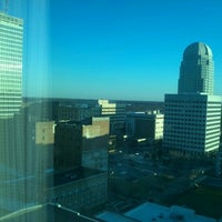 Photo taken at Marriott Winston-Salem by Delfino R. on 1/18/2012