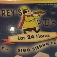 Photo taken at Rey's Pizza by Jane J. on 7/19/2012