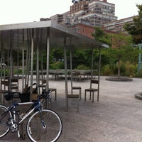 Photo taken at Two Too Large Tables - Hudson River Park by Dan S. on 7/25/2011
