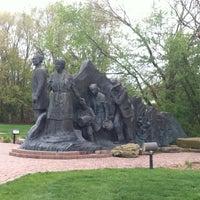 Photo taken at Underground Railroad Sculpture by Katie N. on 4/22/2012