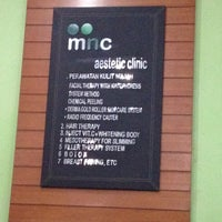Photo taken at MnC Aesthetic Clinic and White Lili SPA by Anjani A. on 5/29/2012