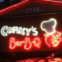 Photo taken at Corky's BBQ by Cynthia B. on 7/3/2012