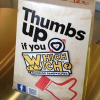 Photo taken at Which Wich? Superior Sandwiches by Hassan W. on 7/16/2012